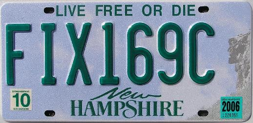NH license plate FIX169C, click me