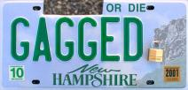 NH plate GAGGED