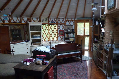 Ellsworth ME yurt living area